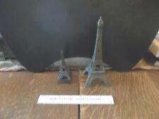 "Pair of Metal Eiffel Towers One 7"" Souvenir One Pencil Sharpener"