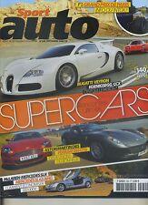 SPORT AUTO n°560 SEPTEMBRE 2008 SUPERCARS BUGATTI VEYRON KOENIGSEGG FERRARI 599