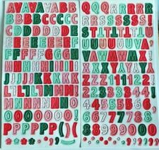 Petit alphabet//chiffres autocollants Pearl Bead Fabrication Carte Artisanat Embellissements