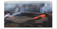 Kilauea Fissure 6 Activity With Spatter Lava Flows Panoramic Silver Halide Photo