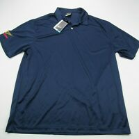 Nike Golf Dri-Fit Men Polo Shirt Men Shelby Strong Short Sleeve Solid XL Blue