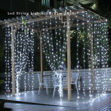 3x3m LED Curtain Light Gazebo Patio Garden Lamp 8-Mode String Fairy Lights Party