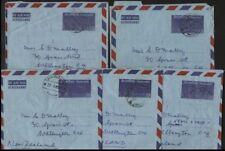 THAILAND POSTAL STATIONERY 3B AEROGRAMME 1963/4 x5 TO NEW ZEALAND(ID:689/D30341)