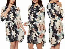 Unbranded Chiffon Floral Dresses Collar