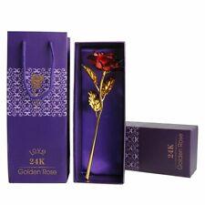 Goldene Gold Rose 24K Gold Vergoldet Muttertag Geburtstag X'mas Geschenk mit Box
