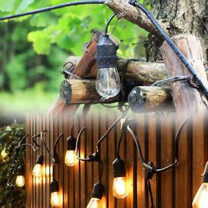10m Lichterkette Glühbirne E27 Beleuchtung Garten Outdoor Biergarten Außen IP65