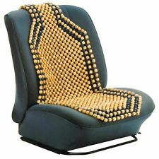 2pcs Wooden Bead Car Taxi Front Seat Cover Cushion Massage Classic Beaded Design