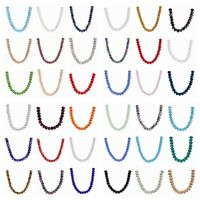 200pcs 3x2mm Faceted Crystal Glass Rondelle Loose Spacer Beads 52colors
