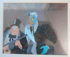 Batman The Animated Series PENGUIN & TWO FACE animation cel w/ real background