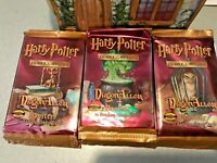 """3 x  New Harry Potter Booster Trading Card """" DRAGON ALLEY"""" WOTC NEW SEALED"""
