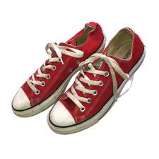 Converse All Star Mens Sz 7 Womens Sz 9 Red Low Top Chuck Taylor Shoes Sneakers