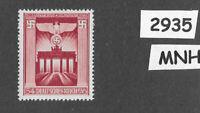 #2935    Nice MNH Brandenburg Gate stamp / 1943 Third Reich issue / WWII Germany