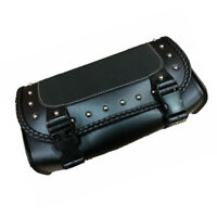 Motorcycle Saddlebag PU Leather Saddle Bag Tool Roll Saddle Bag Chopper Touring
