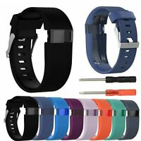 Silicone Replacement Band Bracelet Wrist Strap For Fitbit Charge HR with Tool MS
