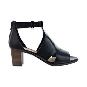 Clarks Kaylin60 Glad (Wide) Women's Heels Black Leather 26150378-W