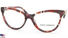 NEW D&G Dolce&Gabbana DG 3169 2733 RED MARBLE EYEGLASSES GLASSES 53-17-135 Italy