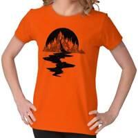 Bleeding Mountain T Shirt   Spirit Animal Tarot Alchemy Magic Womens T Shirt