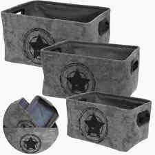 3x Organizer Set Aufbewahrung Utensilo Box Kiste Korb Körbchen Star Sterne Bad