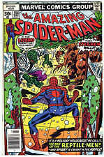 Amazing Spider-Man 166_VF 8.0_ OW Pgs_1977_Bronze Age_Stegron_Lizard_Andru/Wein