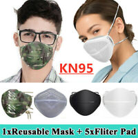 Reusable Mouth Nose Separate Mask+Filter Anti Haze Fog Face Mask Respirators US