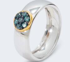 Harry Ivens IV Ring Silber 925 blaue Brillanten