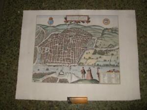 1581,XL-PLAN/MAP,ROUEN[RHOTOMAGUS]NORMANDY,FRANCE[SEINE]BRAUN+HOGENBERG