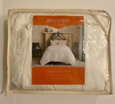 Opalhouse Garment Washed Embroidered Duvet Cover Set White - Twin/XL
