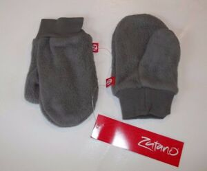 ZUTANO TODDLER UNISEX GIRLS BOYS COZIE FLEECE SNOW MITTENS  (gray) ONE SIZE