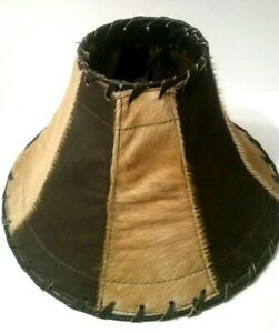 Western Leather Cowhide Cowboy Lamp Shade