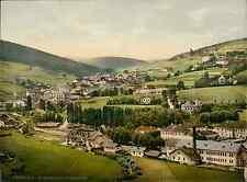 Böhmische Schweiz. Winterberg, von Osten gesehen.  PZ vintage photochromie, phot