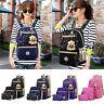 3pcs Women Backpack Shoulder Bag Wallet Girls Canvas Travel Tote School Rucksack