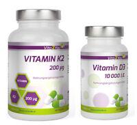 Vita2You Vitamin K2 - 200µg 180 Kapseln + Vitamin D3 - 10.000 I.E. 120 Kapseln