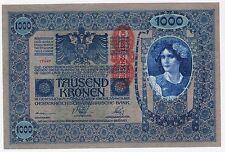 OVERPRINT Banknotes, Hungary, Austria banknotes, 1000 Kronen 1902 !!
