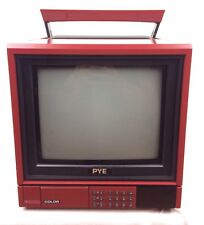 "VTG Retro PYE Portable Colour RGB CRT Perfect Gaming TV 10"" 25KX 1201 VERY RARE"