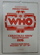 The Who Hammersmith Odeon 1976 UK Weihnachten Show Konzert Kalender Programm Mod
