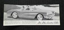 "1956 ""The New Corvette by Chevrolet Live, Lithe Luxurious Action"" Sales Brochure"