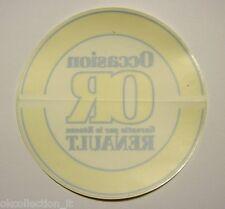 VECCHIO ADESIVO ORIGINALE / Old Originial Sticker OCCASION RENAULT (cm 15)