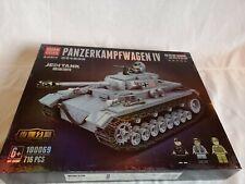 Klemmbaustein - Set WW2 Panzer IV Ausf F2 mit Soldaten OVP NEU Quan Guan