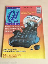 Sinclair QL World Magazine ~ JUNE 1991 ~ Computer Articles ~ GOOD CONDITION