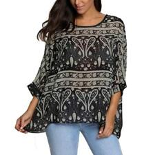 PLUS SIZE TUNIC TOP SHIRT KIMONO SLEEVE CHIFFON COVER UP BLOUSE 12 14 16 18 20