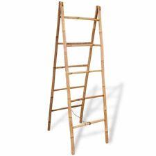 vidaXL Dubbele Handdoekenladder met 5 Tredes Bamboe Handdoek Ladder Badkamer