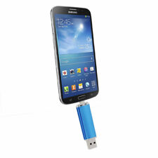 32GB USB 2.0 Flash Drive OTG Dual Port Memory Stick For Android Smart Phone Blue