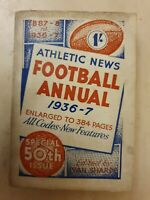 ATHLETIC NEWS FOOTBALL ANNUAL 1936-37 Special 50th Issue, Edited by Ivan Sharpe