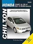 HONDA CIVIC CRV SHOP MANUAL SERVICE REPAIR BOOK CR-V CHILTON 30203 SI 2001-2010
