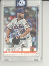 Zack Wheeler auto autograph card /72 2020 Topps Archives NM Phillies Mets