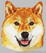 Embroidered Fleece Jacket - Shiba Inu DLE2519 Sizes S - XXL