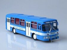 LIAZ-677М Road Traffic Safety Service Bus 1986 Blue White Soviet Autobus 1:43