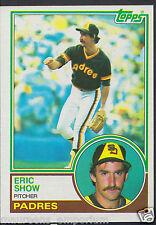 Tarjeta de béisbol Topps 1983-no 68-Eric Show-Padres