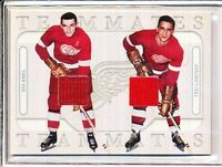 2004/05 ITG IN THE GAME TEAMMATES SID ABEL & TED LINDSAY GAME/USED SILVER