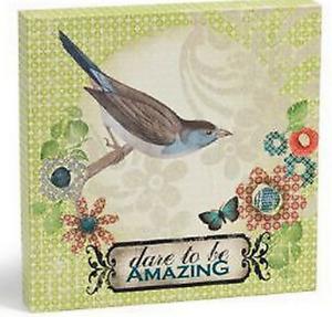 Dare to Be Amazing Wall Art #100237 NIB LIttle Bird Told Me Melody Ross Demdaco